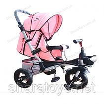 Велосипед 3-х колесный складной козырек Розовый