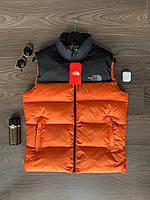 Мужская жилетка The North Face весенняя оранжевая