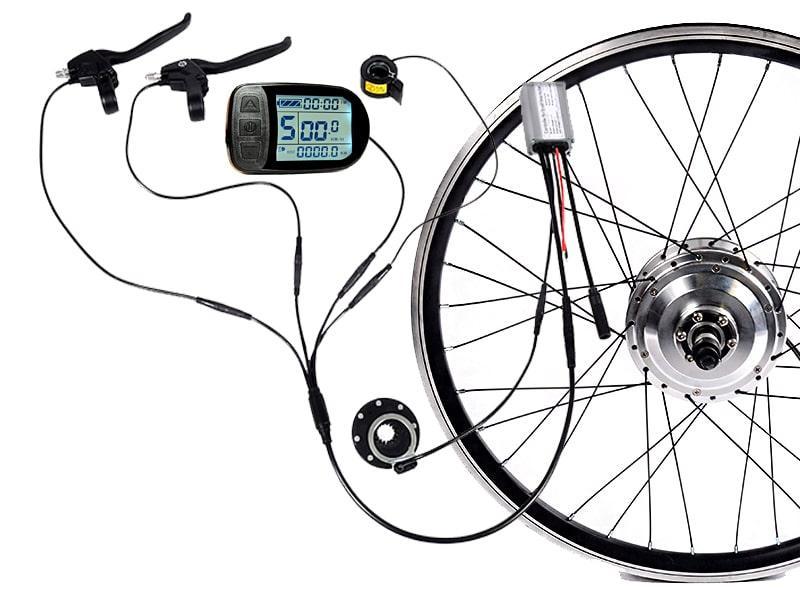 Електронабір для велосипеда з герметичними роз'ємами Waterproof 300Вт 36Вольт LCD-5 на переднє колесо