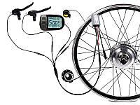 Електронабір для велосипеда з герметичними роз'ємами Waterproof 300Вт 36Вольт LCD-5 на переднє колесо, фото 1