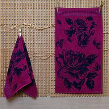Рушник махровий ТМ Речицький текстиль, Вальс квітів 50х90 см