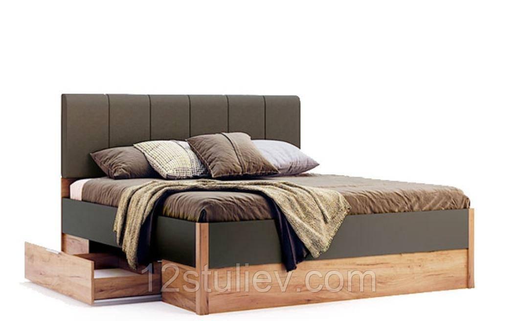 Ліжко Рамона 1,8х2,0 М'яка спинка з ящиками