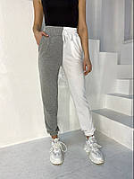 Жіночі штани двоколірні 42-44; 46-48