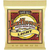 Струны для акустической гитары Erni ball Earthwood 80/20 bronze 11-52