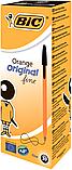 Ручка кулькова BIC ORANGE чорна, фото 2