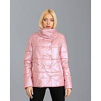 Женская куртка розовая пудра размеры 42-52