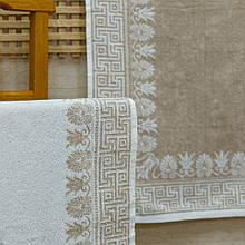Простынь махровая ТМ Речицкий текстиль (Белоруссия) Греция хлопок/лен 208х200 см