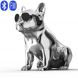 Портативная Bluetooth колонка Aerobull BIG DOG METALLIC S4, c функцией speakerphone, радио колонка собака