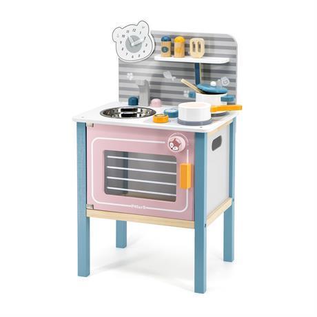 Дитяча кухня Viga Toys PolarB, з дерева, з посудом, 44027