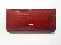 Кошелек кожаный красный женский лаковый Balisa B515-22 на кнопке с 2 мя монетницами