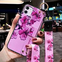 Чохол Lanyard для Iphone 12 mini бампер з ремінцем Rose