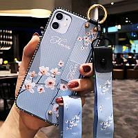 Чохол Lanyard для Iphone 12 mini бампер з ремінцем Blue