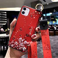 Чохол Lanyard для Iphone 12 mini бампер з ремінцем Red