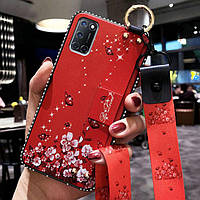 Чехол Lanyard для OPPO A72 бампер с ремешком Red