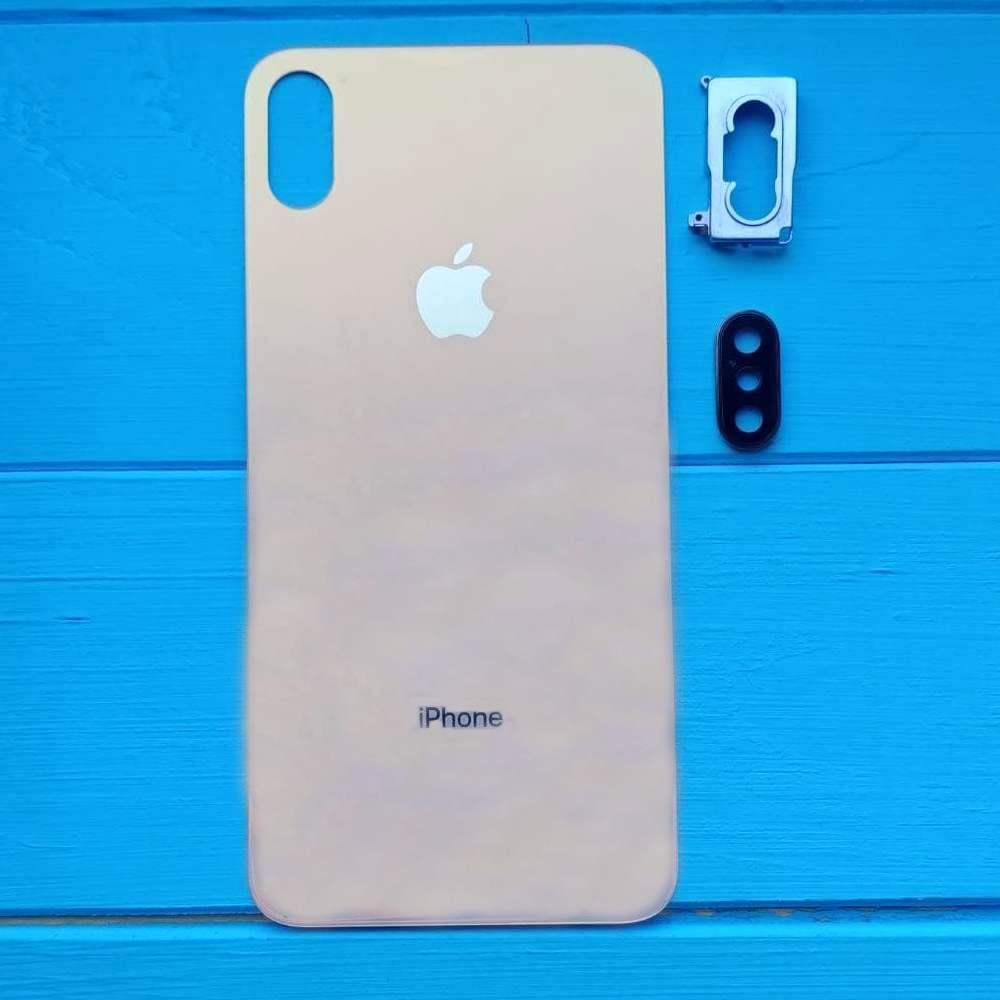 Задняя панель корпуса Apple iPhone XS Max Gold Big Hole
