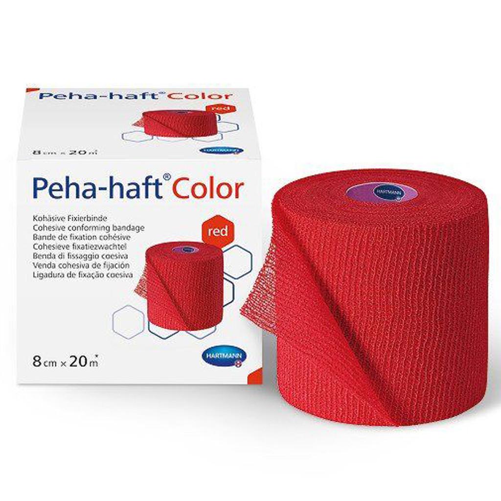 Peha-haft Color 8см х 20м - Бинт когезивный фиксирующий (Красный)