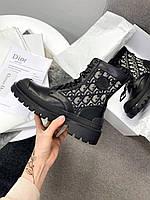 Женские ботинки Dior Explorer Ankle Boot (черные) DI007 модная женская обувь