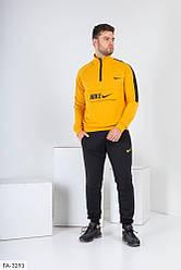 Мужской черно-желтый спортивный костюм «Nike»