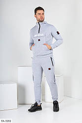 Мужской серый спортивный костюм «ЯR STAR»