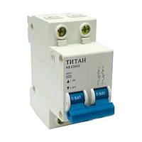 Автоматический вимикач ТИТАН 2P 20A 6кА 230/400В тип С