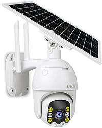 Поворотная уличная IP камера видеонаблюдения Q5 с солнечной панелью