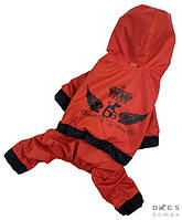 Комбинезон - Дождевик для собак терракотовый, одежда для собак (модель унисекс) есть все размеры