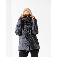 Демисезонная черная куртка 42-52
