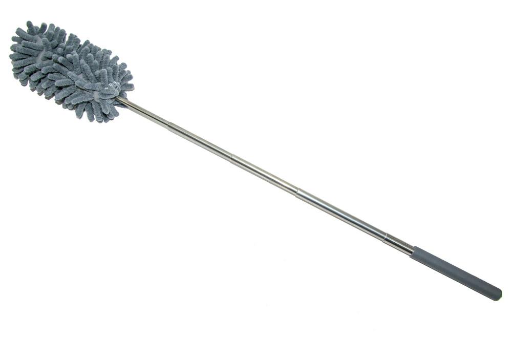 Волоть для змахування пилу Duster Microfiber Yonic сірий 28-75 см, піпідастр для прибирання пилу   пипидастр