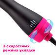 Фен-браш с расческой, щетка для укладки волос One Step Hair Dryer, расческа выпрямитель волос (фен-щітка) (GK), фото 5