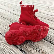 Красные высокие Adidas Yeezy 500 текстиль |КОПИЯ| женские кроссовки адидас изи balenciaga zara, фото 2