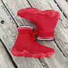 Красные высокие Adidas Yeezy 500 текстиль |КОПИЯ| женские кроссовки адидас изи balenciaga zara, фото 3