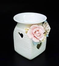 """Аромалампа керамічна з квітами """"1В"""""""