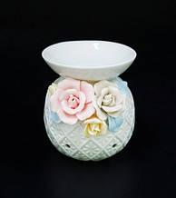 """Аромалампа керамічна з квітами """"2B"""""""