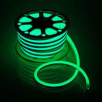 Світлодіодний Neon PROLUM SMD2835-120 led 220V IP68 8x16 Преміум Зелений