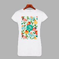 Женская футболка с принтом Счастливый женский день (1514)
