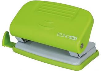 Дырокол Economix до 10 листов пластиковый салатовый E40133-13