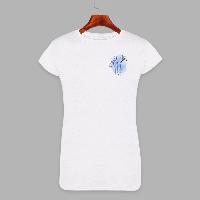 Женская футболка с принтом Три цветочка (1504)