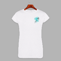 Женская футболка с принтом Веточка хризантемы (1503)