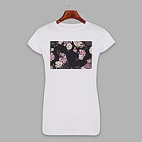 Женская футболка с принтом Розы (1501)