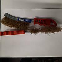 Щетка по металлу (латунная проволока, пластиковая ручка) СТАНДАРТ BWPH0102