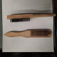 Щетка по металлу (6-рядная, деревянная ручка) СТАНДАРТ SWWH0601