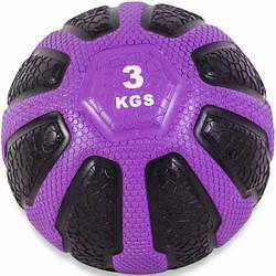 Медбол USA Style LEXFIT фиолет. 3кг, LMB-8037-3