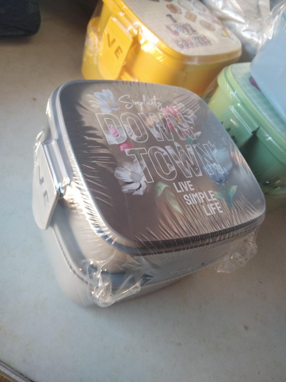 Ланчбокс подвійною з виделкою і ложкою Туреччина 021175 Hobbi Life ланч бокс контейнер, ланч бокс з приладами
