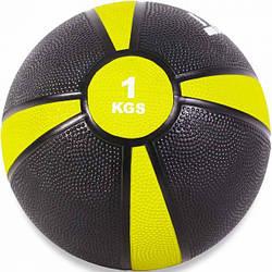 Медбол USA Style LEXFIT желт/черн.1кг, LMB-8004-1