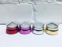 Штамп (печать) для стемпинга хром круглый, маленький - 3,5 см.