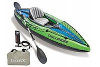Одноместная надувная лодка-байдарка Intex 68305 Challenger K1 Kayak