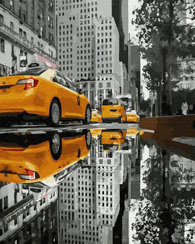 Картина по номерам 40х50 см Brushme Такси большого города (GX 34837)