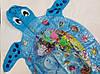 """Надувной детский развивающий водный коврик """"Черепашка"""", фото 3"""