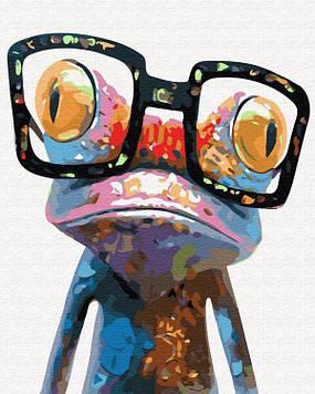 Картина по номерам 40х50 см Brushme Хамелеон в очках (GX 30282)
