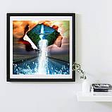 Алмазна вишивка мозаїка Diy Об'єднання світів 30х30см 30кольорів повна зашивка квадратні стрази. Набір алмазної вишивки, фото 2